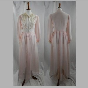 50's Vintage Sexy Nightgown and Robe, 2 Pieces